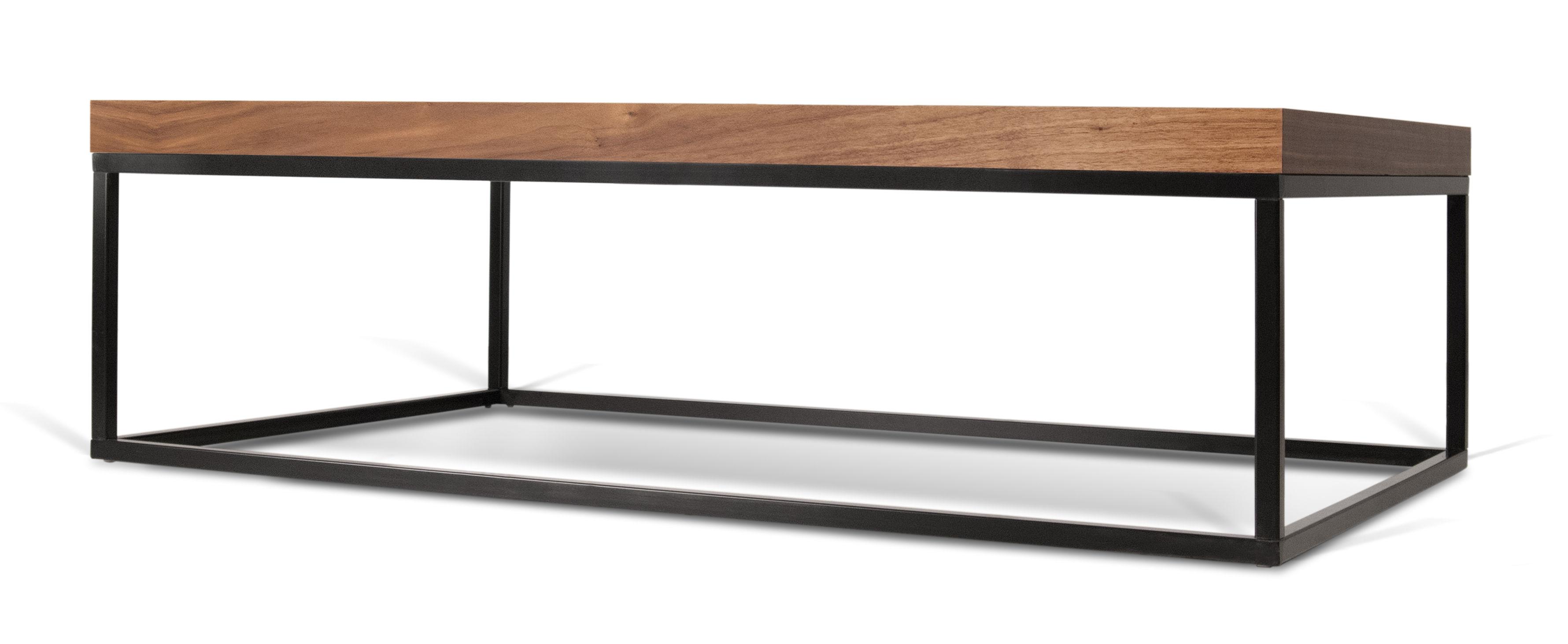 Wallnut Coffee Table Walnut Walnut Black Leg By Pop Up Home