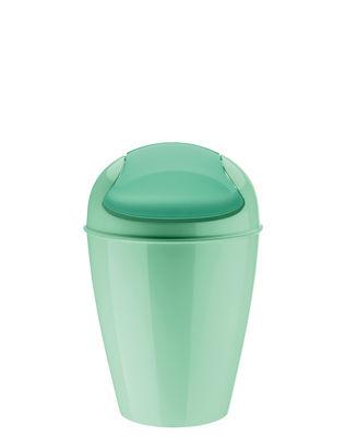 Poubelle de table del xxs h 18 7 cm 0 9 litres vert menthe koziol for Poubelle de cuisine vert pastel