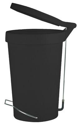 Poubelle p dale tip 30 litres noir authentics - Poubelle cuisine pedale 30 litres ...