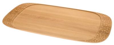 Foto Piano/vassoio Dressed in Wood - / 65 x 37 cm di Alessi - Legno naturale - Legno