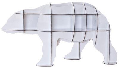 Libreria Junior - h 95 cm di Ibride - Bianco brillante - Materiale plastico