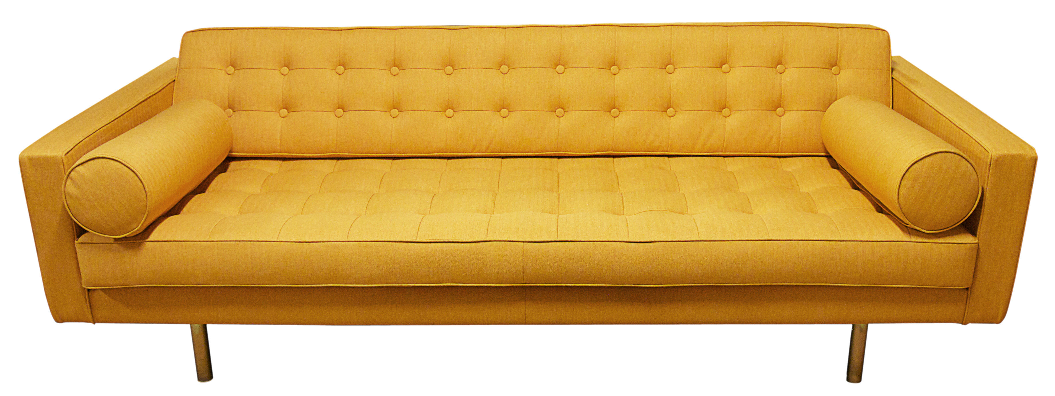 Canap droit 3 places l 215 cm jaune or made in design editions - Canape made in design ...