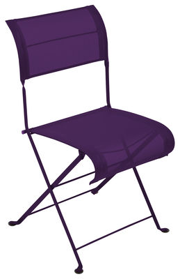 Chaise pliante dune toile aubergine chin fermob - Chaise pliante toile ...