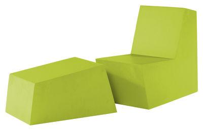 Foto Pouf Primary solo Ottoman di Quinze & Milan - Verde limone - Materiale plastico