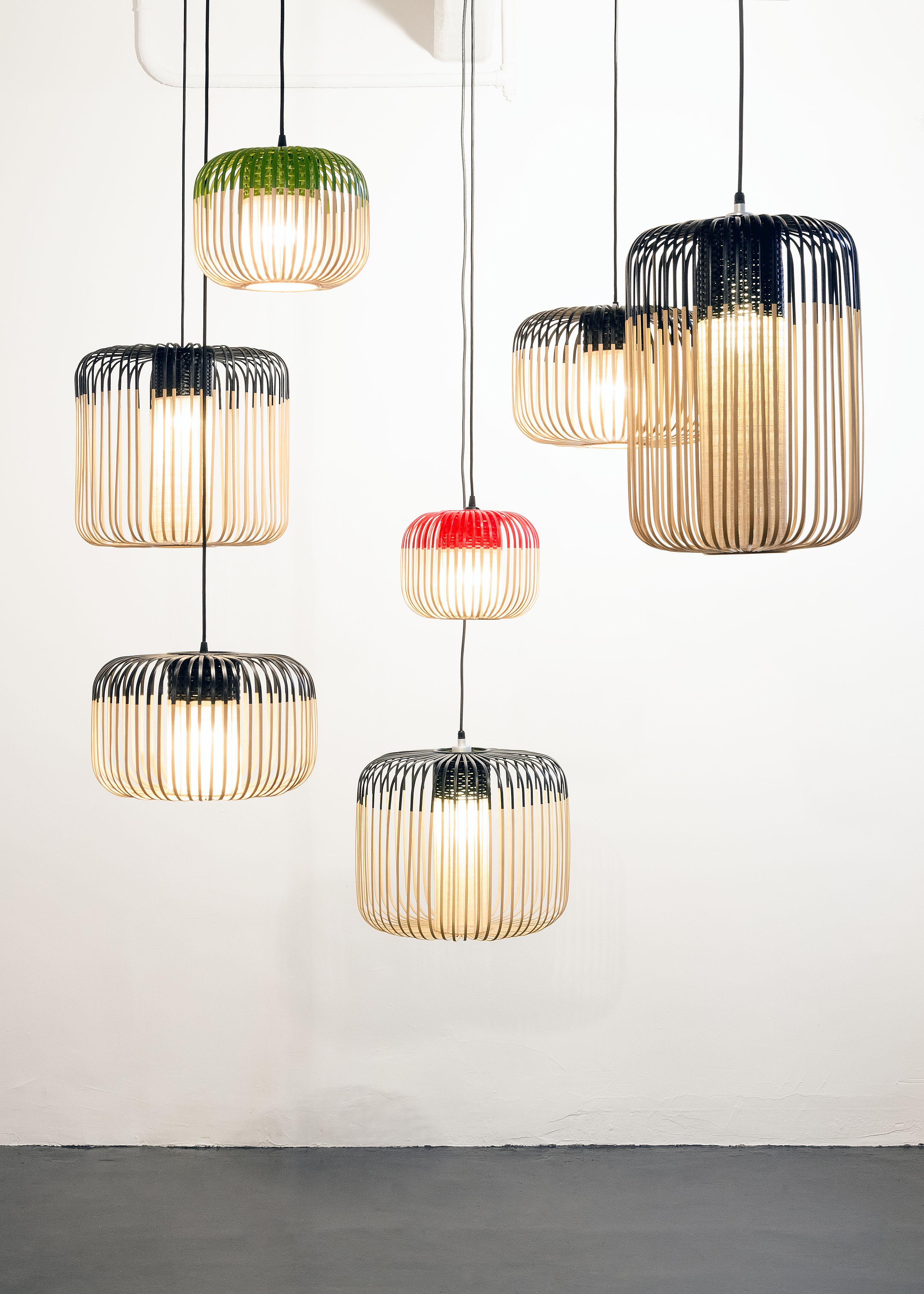 suspension bamboo light s h 23 x 35 cm vert naturel forestier. Black Bedroom Furniture Sets. Home Design Ideas