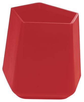 Foto Vaso per fiori Rock Garden - h 59 cm di Qui est Paul ? - Rosso - Materiale plastico