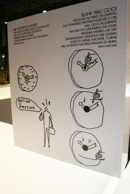 Horloge murale blank personnalisable blanc alessi - Horloge murale personnalisable ...