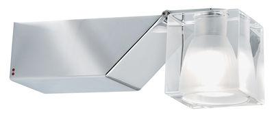Foto Applique Cubetto - Crystal Glass - Orientabile di Fabbian - Trasparente - Metallo