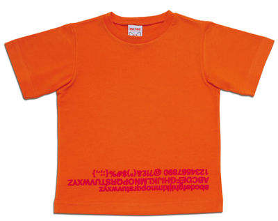 Foto T-shirt Abc di Magis Collection Me Too - Arancione - Tessuto