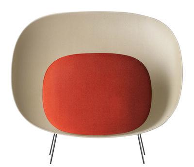 Foto Lampada da pavimento Stewie - / L 77 x H 69 cm di Foscarini - Rosso,Avorio - Materiale plastico