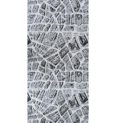 Scopri carta da parati voila 1 rotolo nero bianco di for Rotolo carta parati