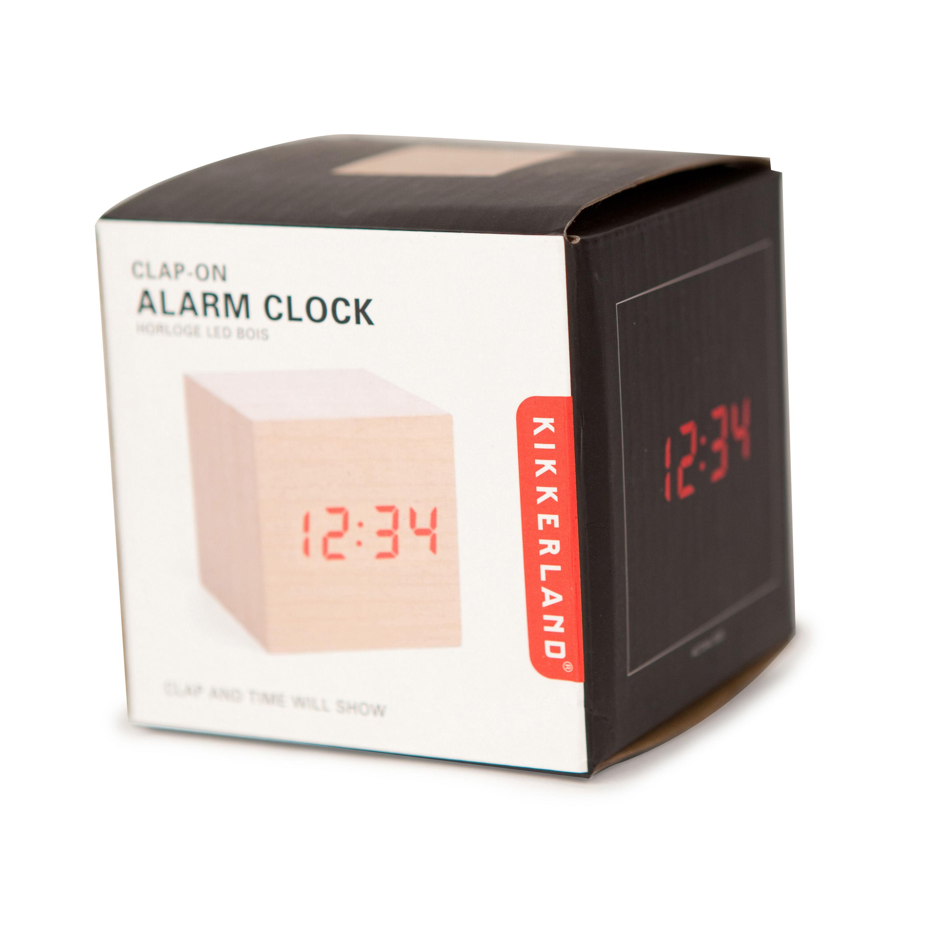 Wood Cube Alarm Clock White By Kikkerland