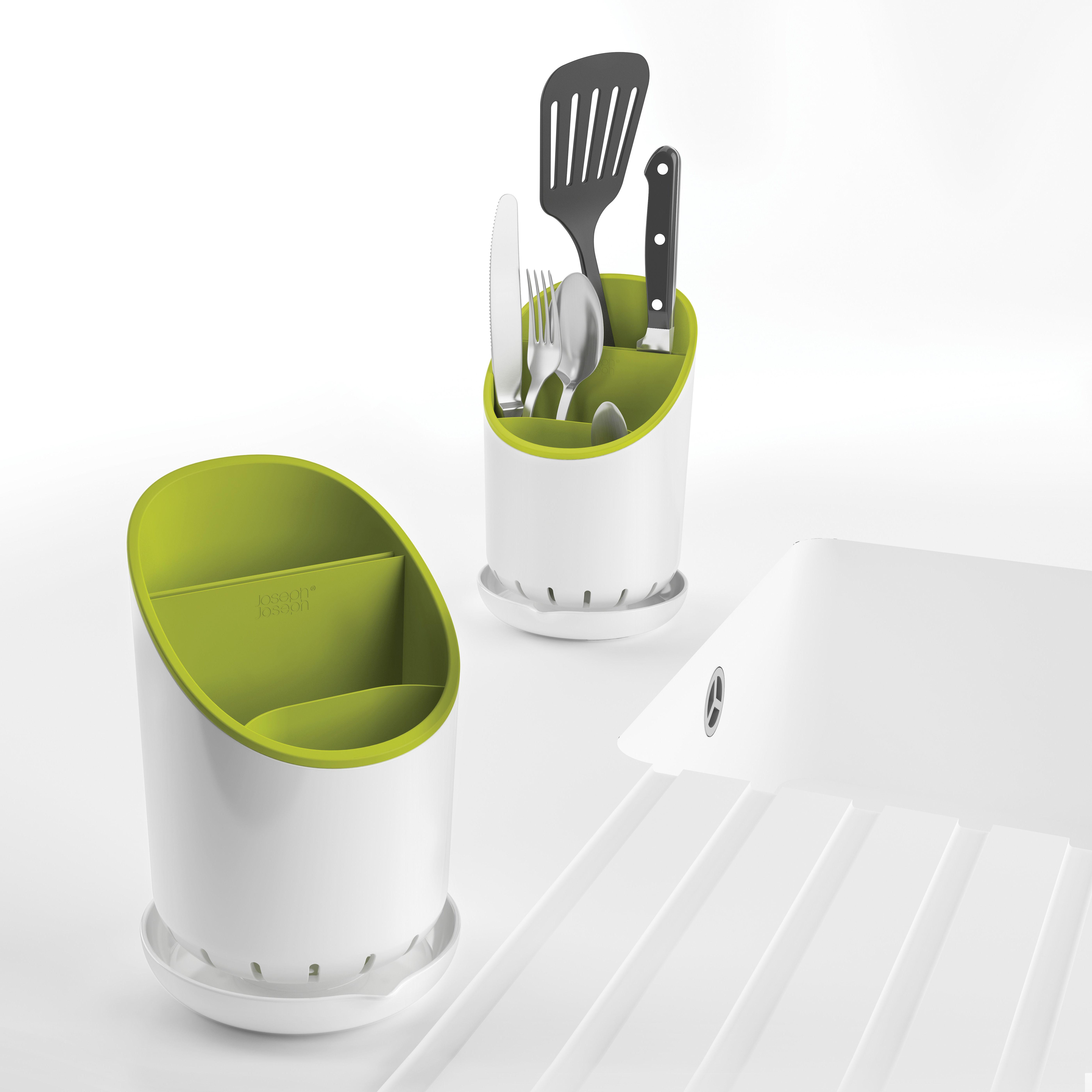 dock f r besteck und k chenutensilien joseph joseph abtropfgestell. Black Bedroom Furniture Sets. Home Design Ideas