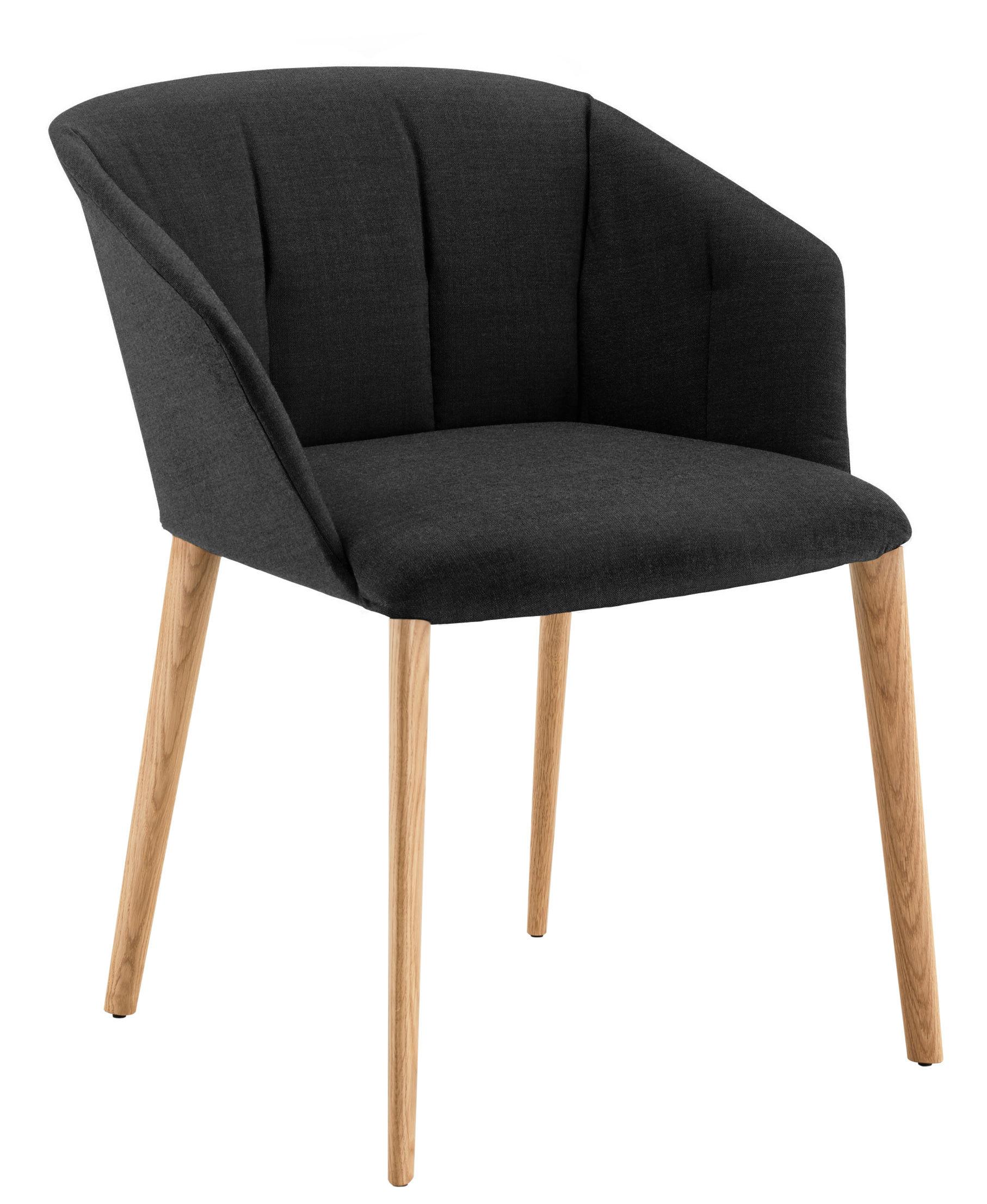 fauteuil rembourr liza tissu pieds bois noir pieds. Black Bedroom Furniture Sets. Home Design Ideas