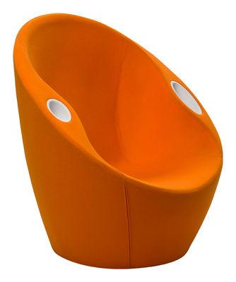 Foto Poltrona imbottita Ouch - con braccioli - Rivestimento in tessuto di Casamania - Arancione - Tessuto