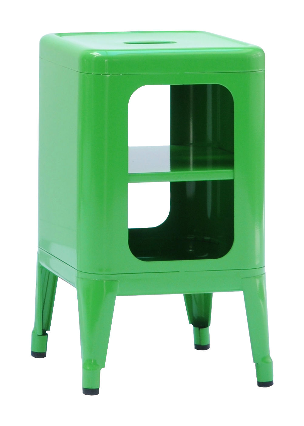 meuble de rangement acier laqu h 50 cm vert tolix. Black Bedroom Furniture Sets. Home Design Ideas