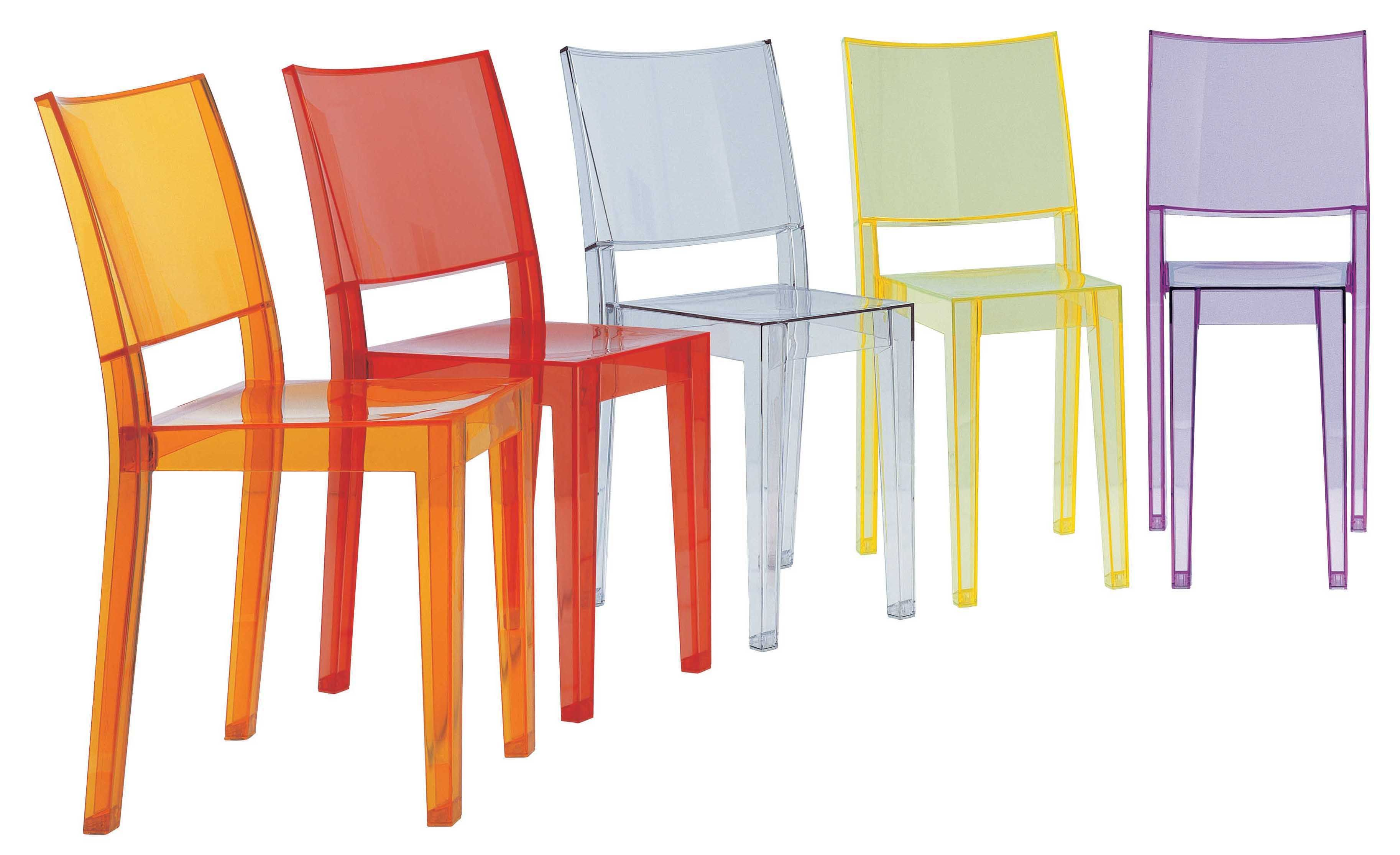 la marie stackable chair transparent polycarbonate