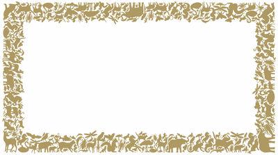 Foto Sticker Panthéon Rectangle di Domestic - Oro - Materiale plastico
