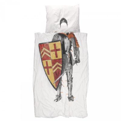 Foto Parure da letto 1 persona Chevalier - Cavaliere / 1 persona - 140 x 200 cm di Snurk - Multicolore - Tessuto