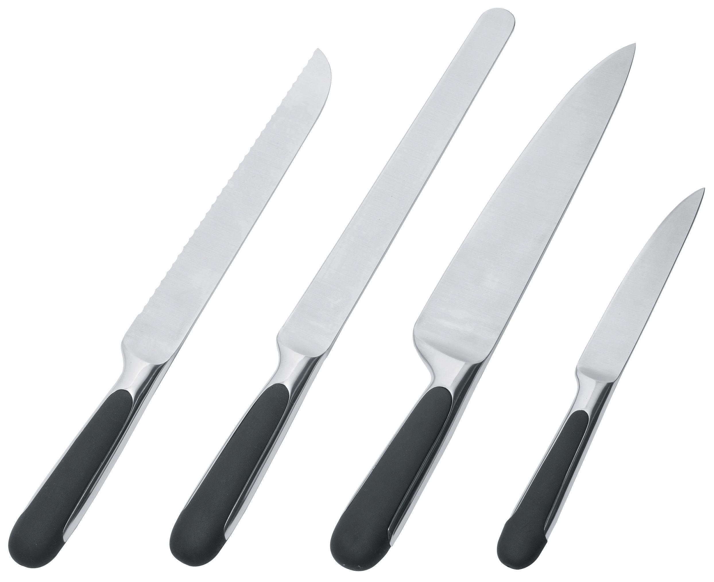 Scopri coltello da cucina mami da salumi acciaio nero di alessi made in design italia - Coltelli da cucina ...