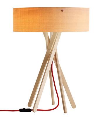 Lampe de table Arba - Belux Rouge,Bois en Bois