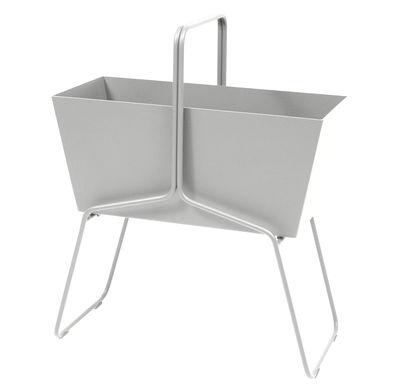 Foto Fioriera Basket alta / L 70 x H 84 cm - Fermob - Grigio metallo - Metallo