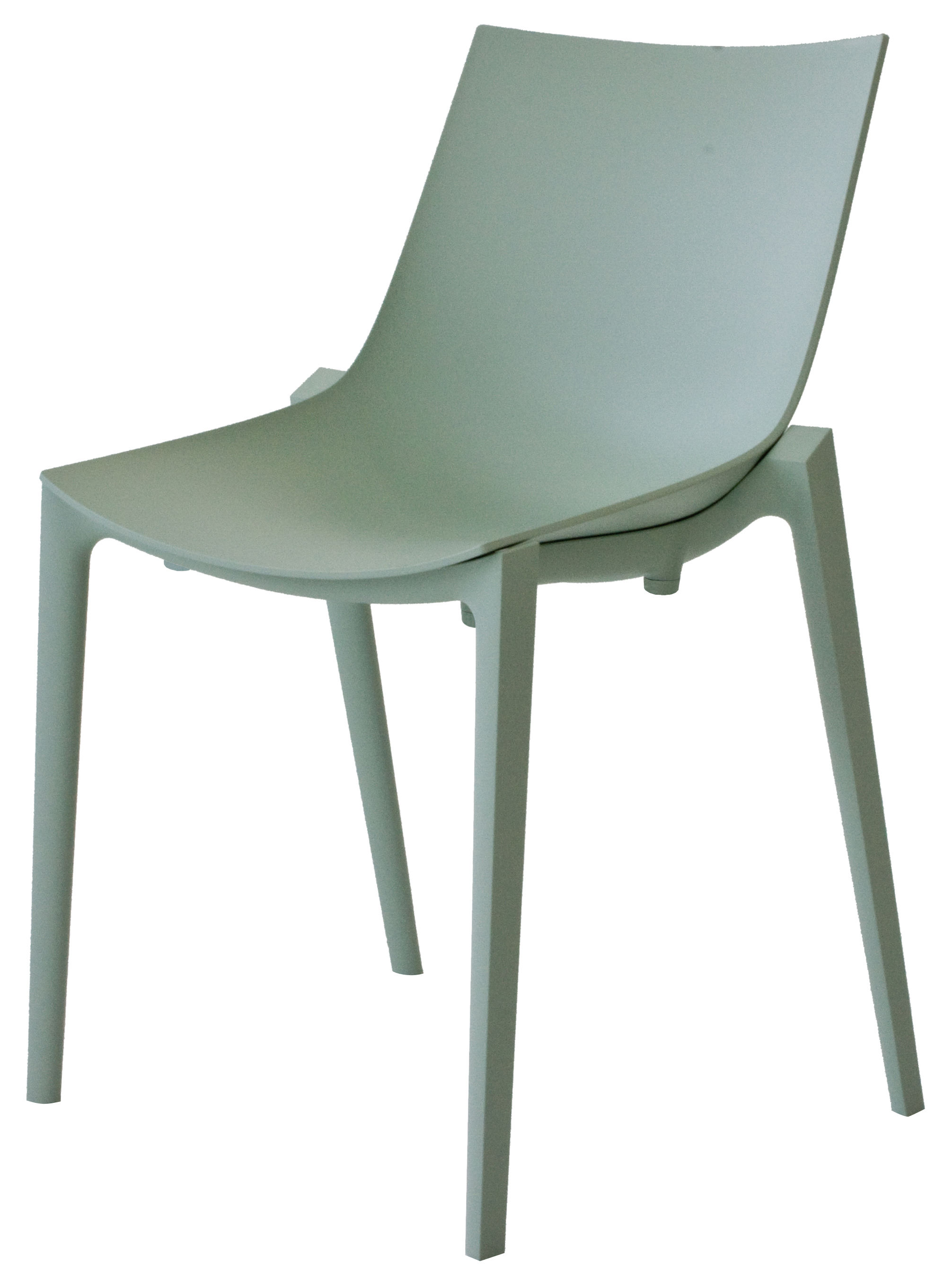 Zartan basic chair by philippe starck green by magis for Chair design basics