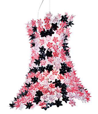 Foto Sospensione Bloom di Kartell - Rosa,Nero - Materiale plastico