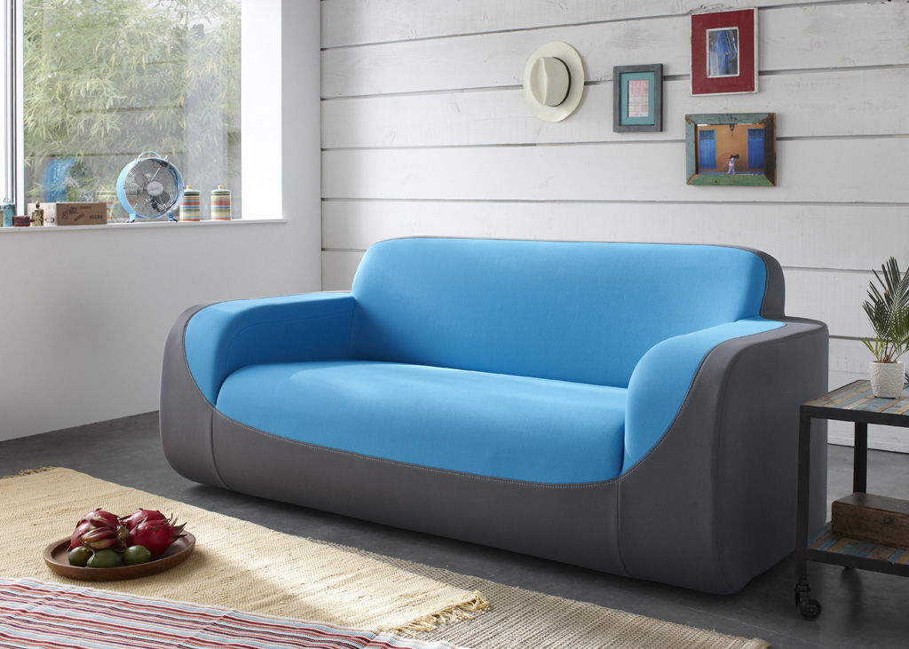 canap droit curling by ora ito 2 places l 180 cm rouge surpiq re noire dunlopillo. Black Bedroom Furniture Sets. Home Design Ideas