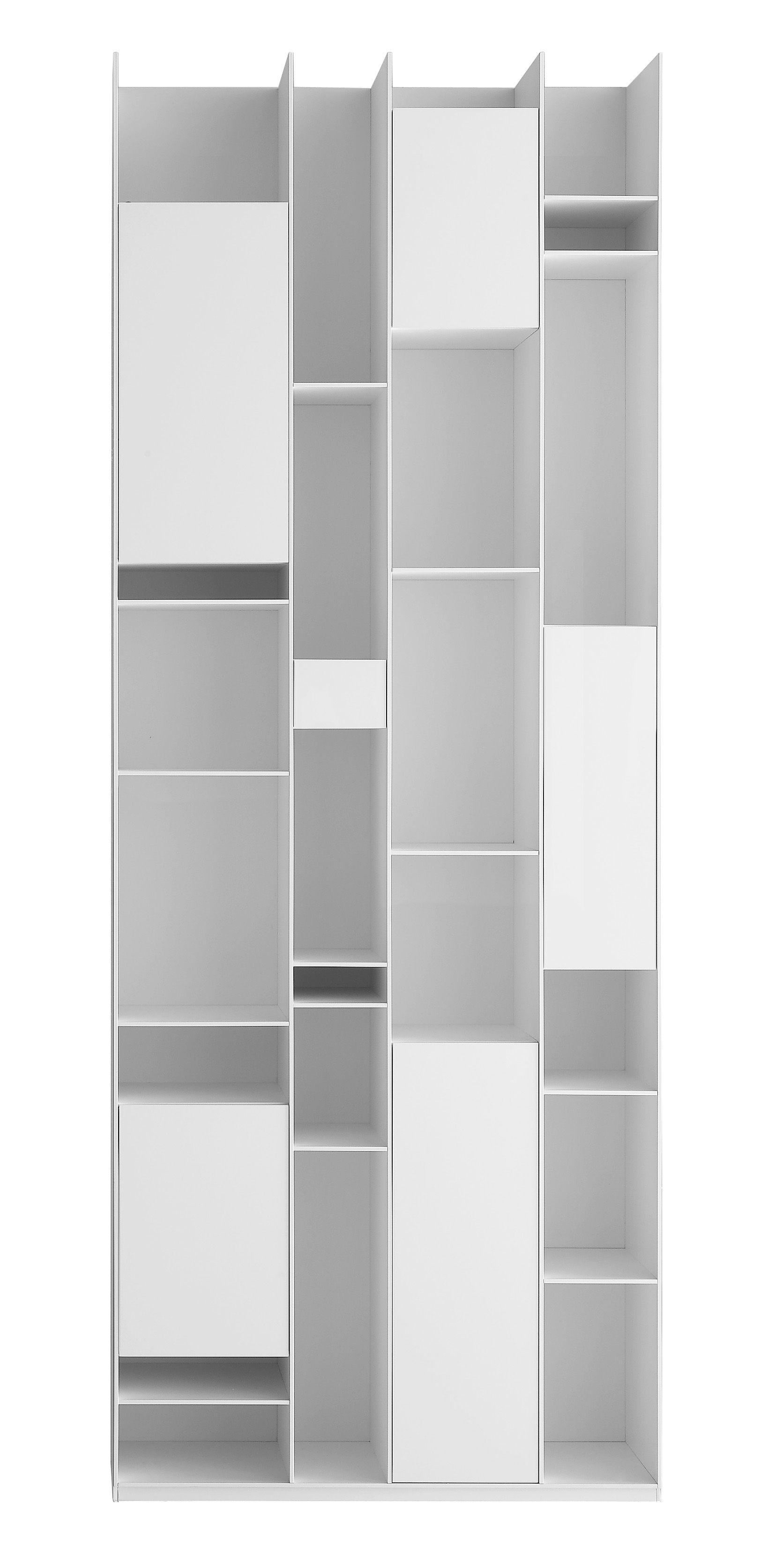 Random box bookcase bookcase white lacquered by mdf italia - Mdf italia ...