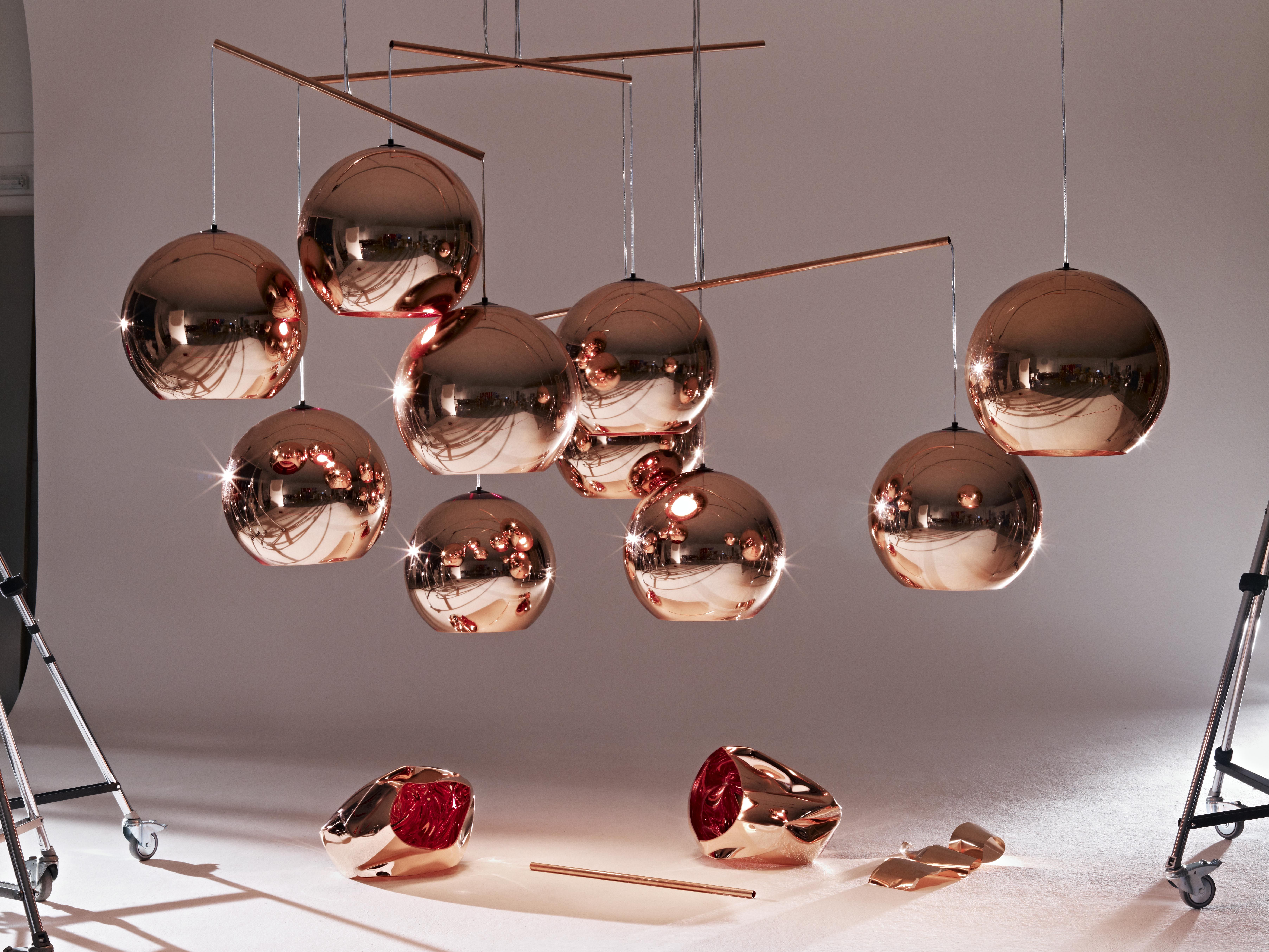 suspension copper round 45 cm cuivre tom dixon. Black Bedroom Furniture Sets. Home Design Ideas