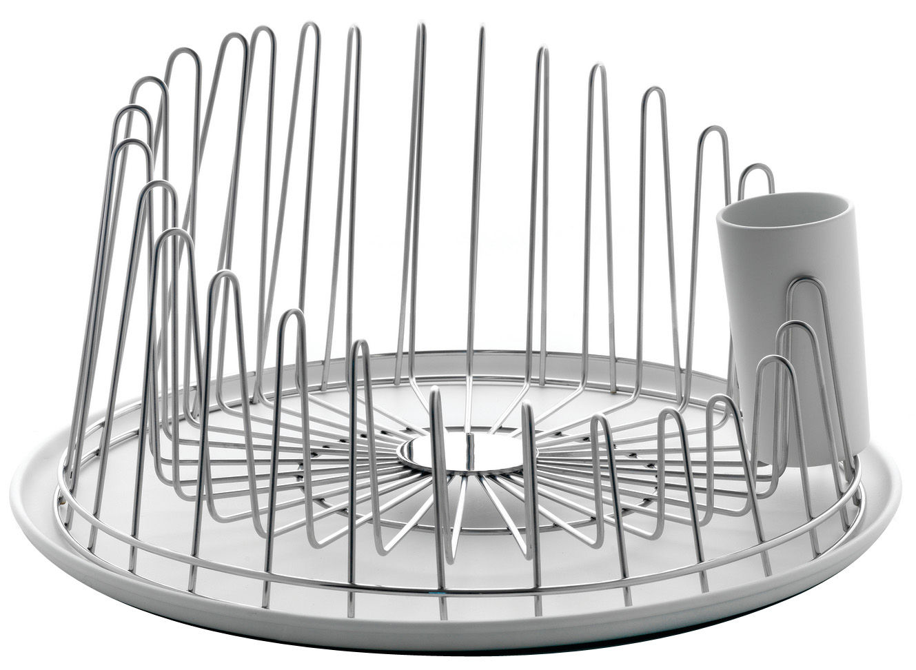 A Tempo Draining rack Polished steel by A di Alessi