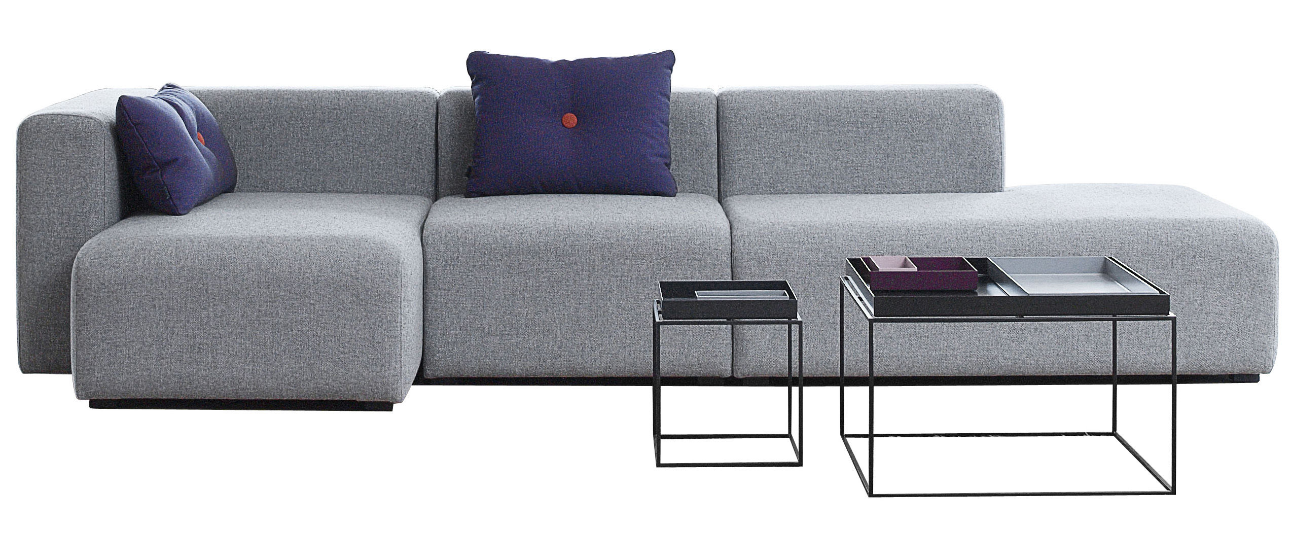 mags corner sofa l 302 cm left armrest light grey left armrest by hay. Black Bedroom Furniture Sets. Home Design Ideas