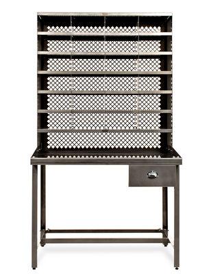 bureau casier de tri meuble de rangement acier brut verni brillant tolix. Black Bedroom Furniture Sets. Home Design Ideas