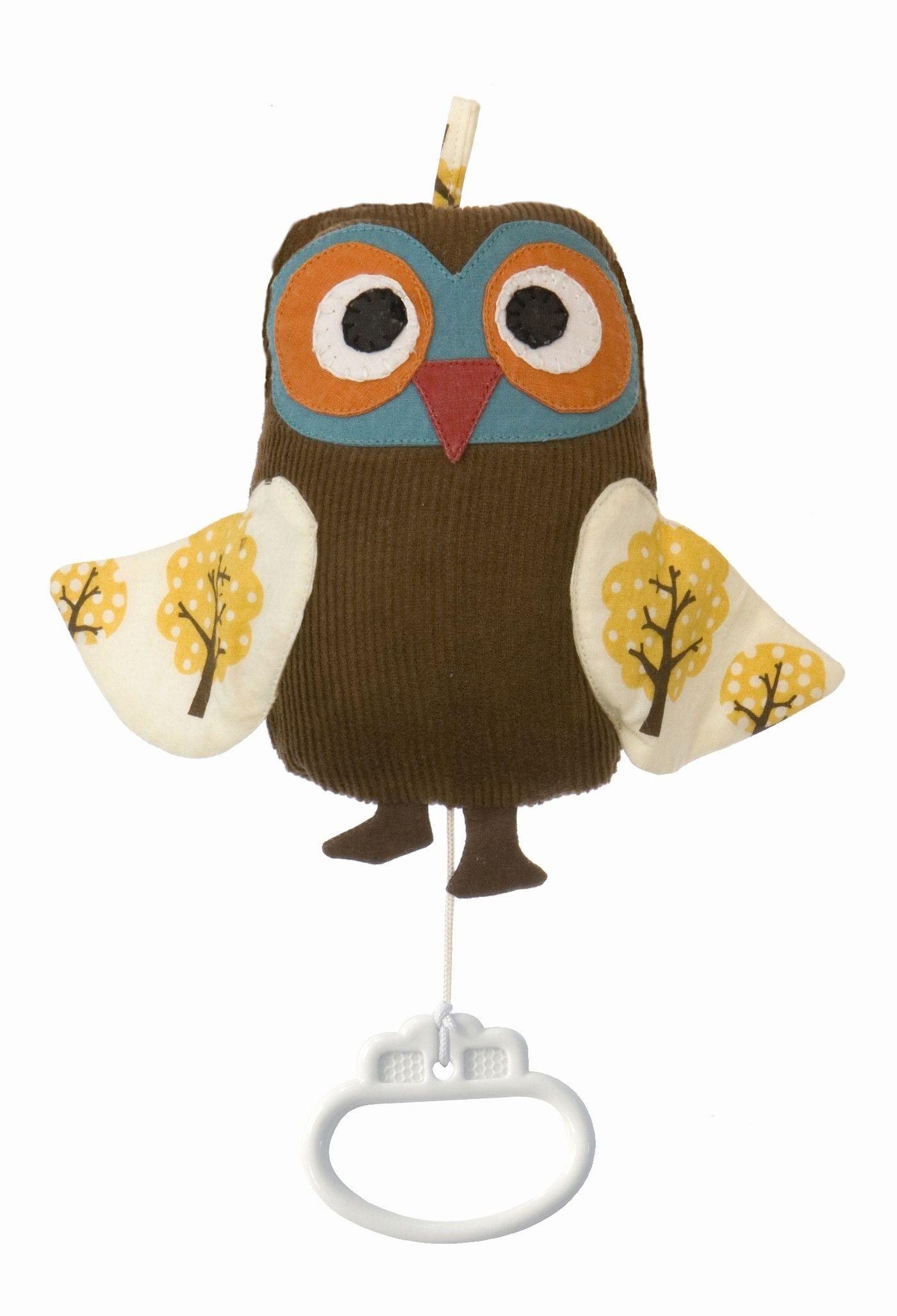 mobile musical owl music mobile brun ferm living. Black Bedroom Furniture Sets. Home Design Ideas
