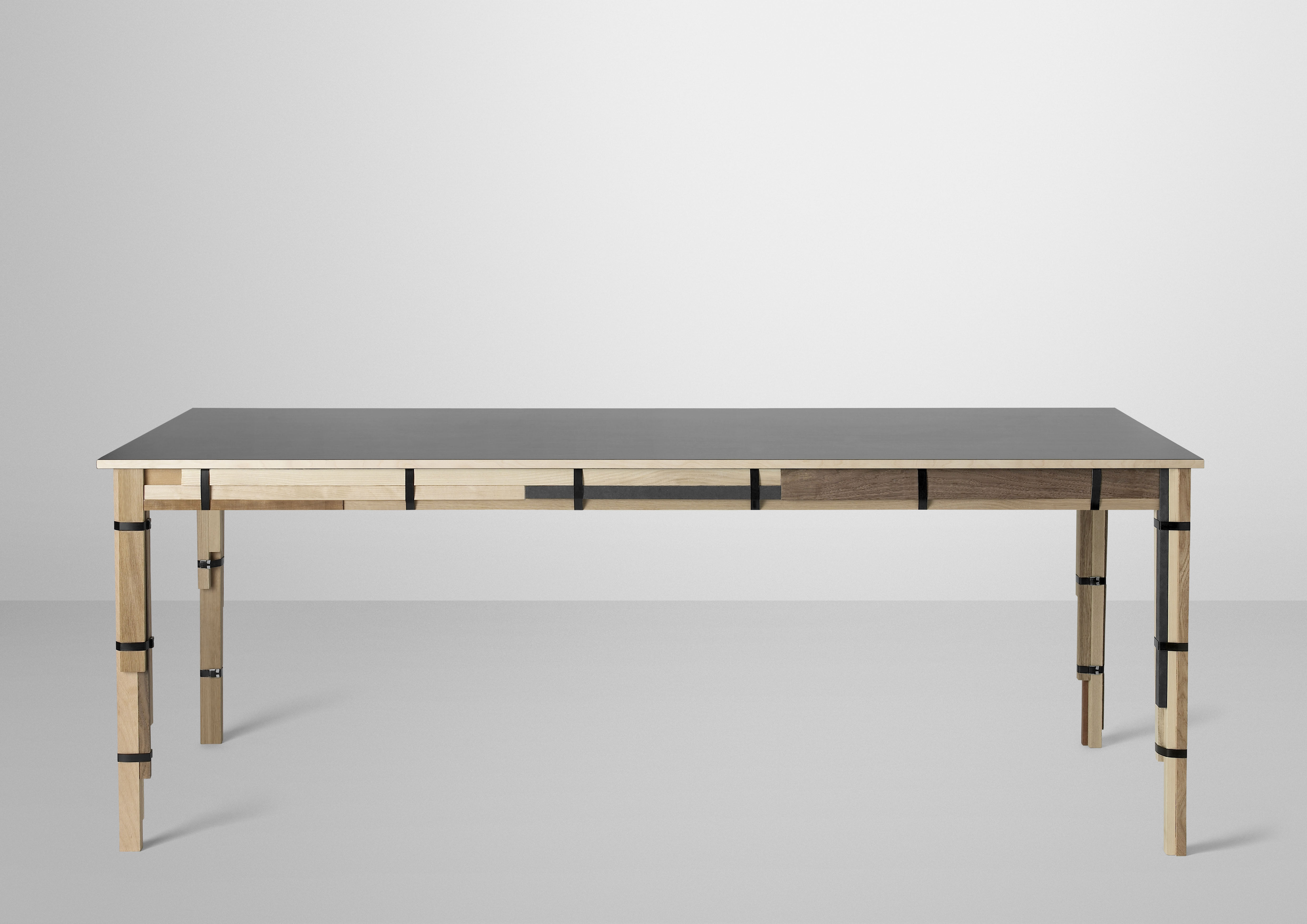 Keep table mixed wood types by muuto for Modern kitchen table designs
