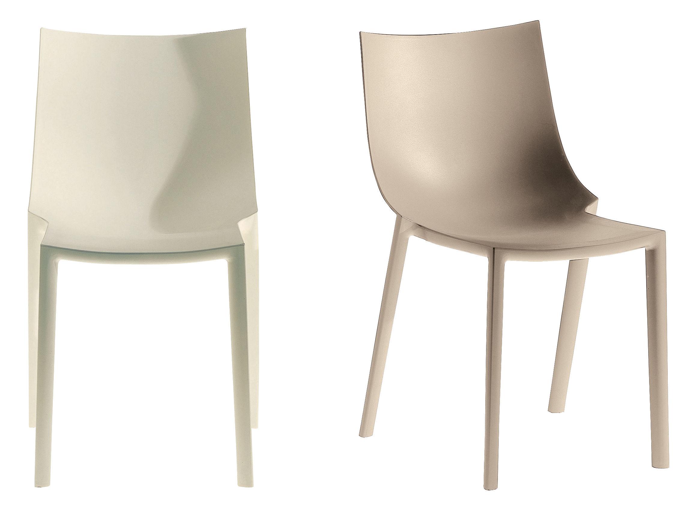 chaise empilable bo plastique blanc driade. Black Bedroom Furniture Sets. Home Design Ideas
