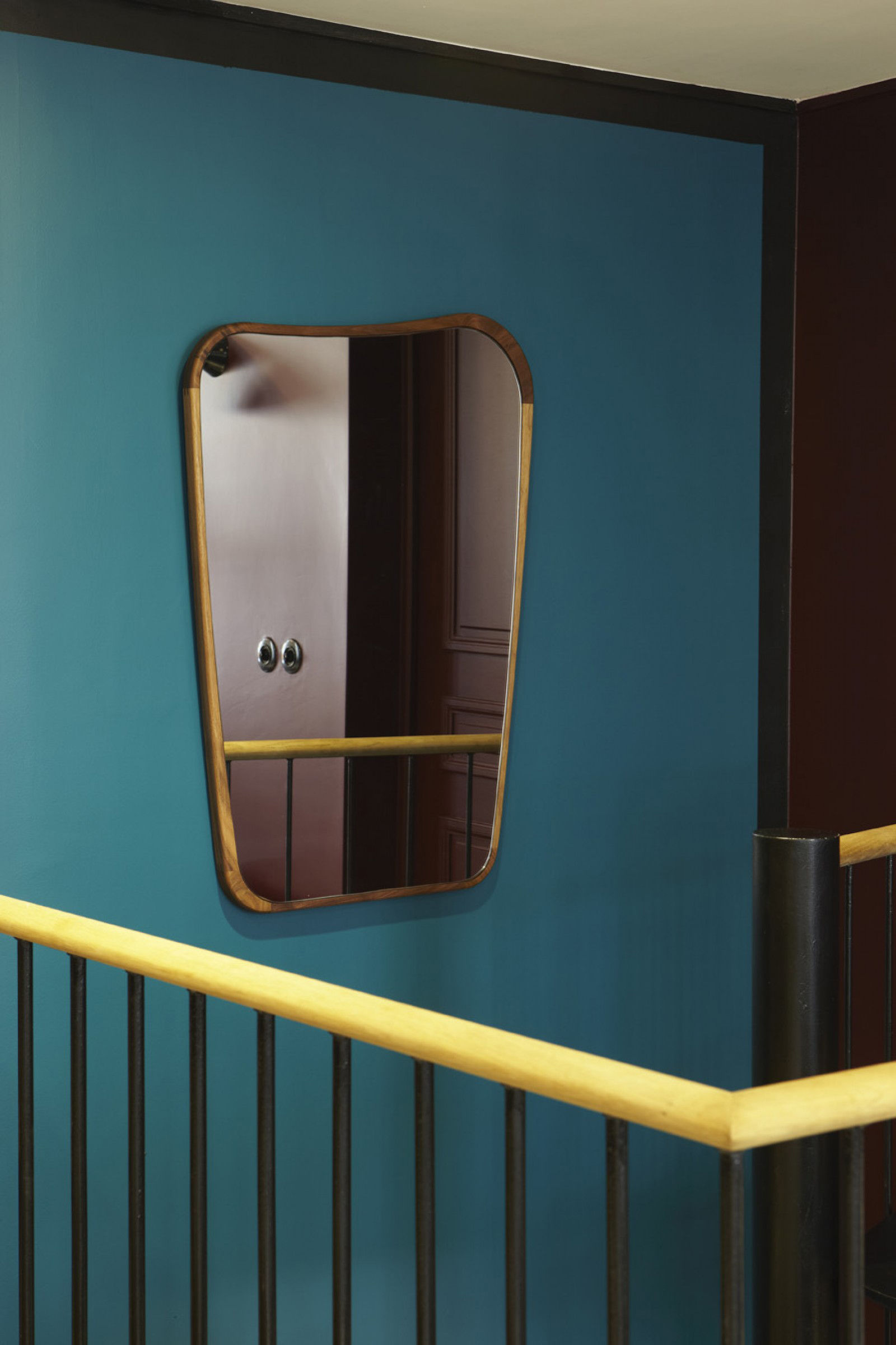 Miroir Organique Petit 50 X 75 Cm Noyer Maison Sarah