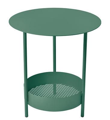 Foto Tavolino con piede centrale Salsa / Ø 50 x H 50 cm - Fermob - Cedro - Metallo Tavolino rotondo