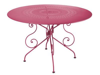 tavolo da giardino 1900 - Ø 117 cm di Fermob - Fucsia - Metallo