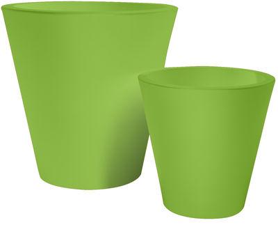 Foto Vaso per fiori New pot - h 60 cm di Serralunga - Verde - Materiale plastico