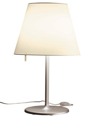 Foto Lampada da tavolo Melampo Tavolo - / H 81 cm di Artemide - Bronzo,Ecru - Metallo