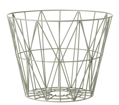 Foto Cestino Wire Medium / Ø 50 x H 40 cm - Ferm Living - Vert ancien - Metallo Cesto