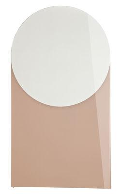 Miroir shape rond small l 50 x h 90 cm vieux rose h for Miroir rond 50 cm