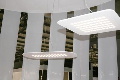 suspension matilde ovale 60 leds blanc opaque fontana arte. Black Bedroom Furniture Sets. Home Design Ideas