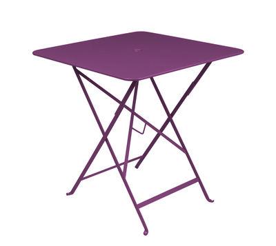 Foto Tavolo pieghevole Bistro - 71 x 71 cm - Pieghevole - Con foro per parasole di Fermob - Melanzana - Metallo