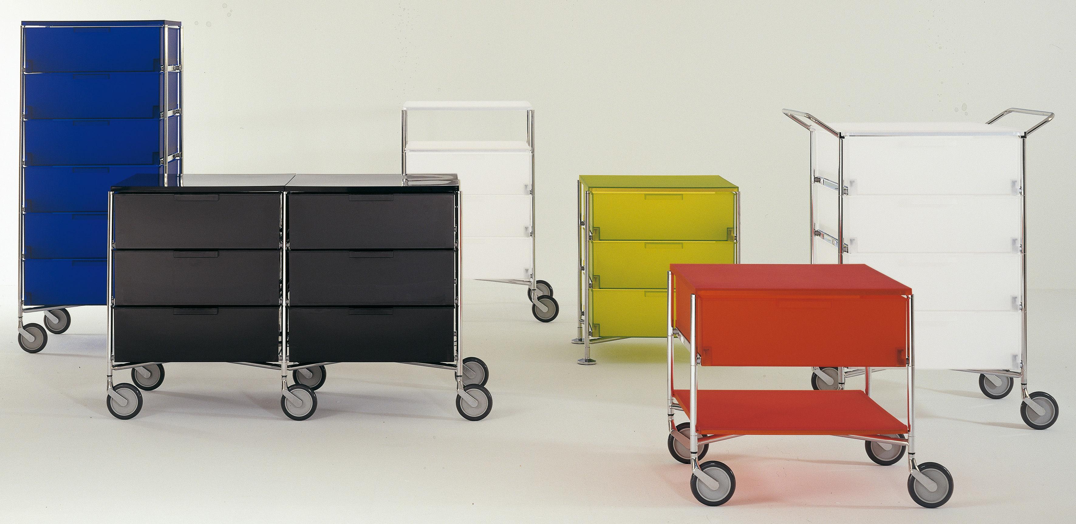 caisson roulettes mobil 4 tiroirs cobalt kartell. Black Bedroom Furniture Sets. Home Design Ideas