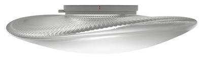 Foto Applique Loop LED / Plafoniera - Vetro - Ø 45 cm - Fabbian - Trasparente - Vetro