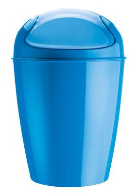 Pattumiera del s a 37 cm 5 litri di koziol blu caraibi materiale plastico