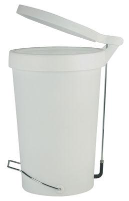 Poubelle p dale tip 30 litres blanc gris authentics - Poubelle cuisine a pedale 50 litres ...